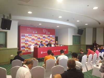 Interpreting service for the Bayern Munich – Inter Milan press conference