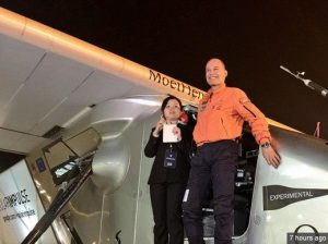 Solar Impulse took off for its sixth flight from Chongqing to Nanjing, China