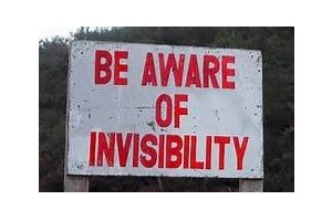 Chinese funny translation: Be Aware of invisibility