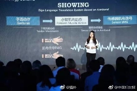 2 Chinese students design a Sign Language Interpreter for their Aphasiac friends