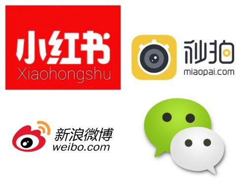 The 4 big social Media platforms in China in 2017