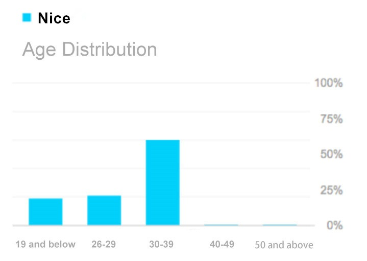 Chinese social media nice age distribution