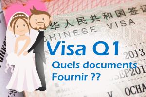 Visa Q1 – regroupement familial – Quels documents fournir ?