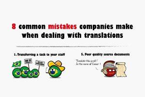 Les erreurs les plus courantes lorsqu'il s'agit de traductions