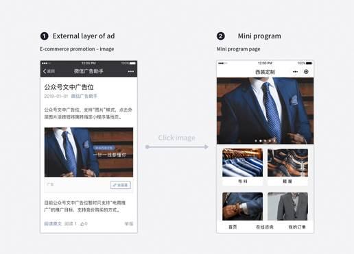 publicité WeChat, emplacement publicité