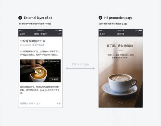 publicité WeChat, WeChat, emplacement de la publicité