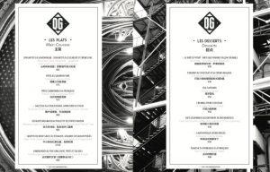 menu traduction