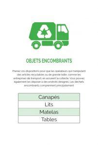 objets encombrant déchets