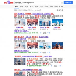 Baidu tourisme chinois