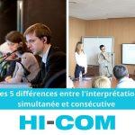 interprétation simultanée et consécutive différences