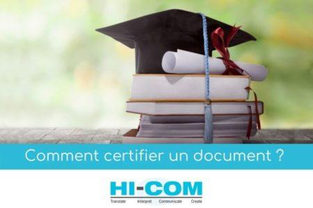 comment certifier un document