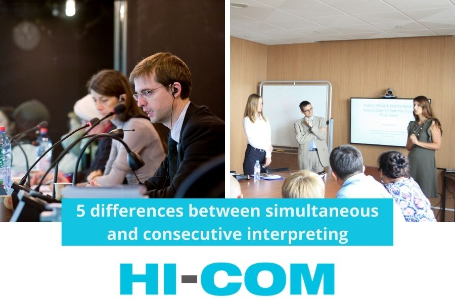 main differences between simultaneous and consecutive interpreting