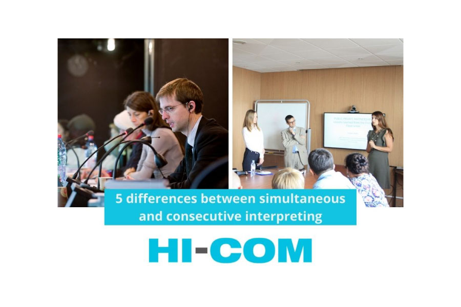 What are the differences between simultaneous and consecutive interpreting